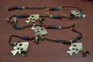 """Handmade Fish Brass Metal Bells Glass Beads String 45"""""""
