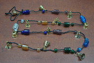 Handmade Brass Metal Bells Glass Beads String 45""