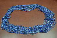 12 Necklaces Blue Glass Seed Love Beading Beads 36""