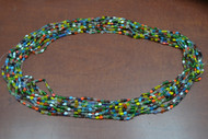 12 Necklaces Multi Colors Glass Love Seed Beading Beads 36""