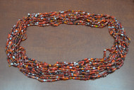 """12 Necklaces Red Glass Seed Beading Love Beads 36"""""""