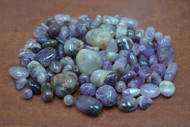 250+ Pcs Purple Agate Gemstone Rock Chips
