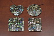 4 Pcs Shape Abalone Shell Blank Inlay Pendants