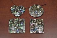 4 Pcs Shape Abalone Shell Blank Inlay Pendants