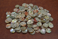 100 Pcs Red Abalone Shell Charms 6mm