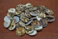 100 Pcs Tiger Cowrie Shell 2 Holes Sewing Buttons 16mm