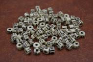 Carved Stripe Ivory Round Beading Buffalo Bone Beads 6mm