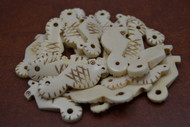 25 Pcs Carved Starfish Buffalo Bone Charm Pendants