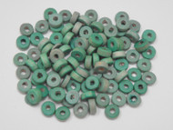 100 Pcs Green Wood Round Beading Beads 8mm
