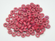 100 Pcs Red Wood Round Beading Beads 8mm