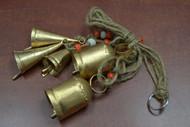 """5 Pcs Handmade Rusty Metal Iron Bell Hanger 3"""""""