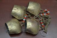 """4 Pcs Handmade Rusty Metal Iron Bell Hanger 3 1/2"""""""