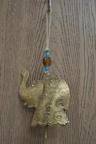 "Handmade Elephant Rusty Metal Iron Bell Hanger 5"""