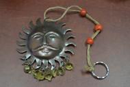 """Handmade Hindu Sun God Rusty Metal Iron Bell Hanger 3 1/2"""""""