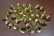 50 Pcs Gold Plated Jingle Christmas Decoration Charm Bells 1/2""