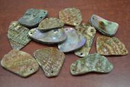 12 Pcs Assort Abalone Shell Blank Charms