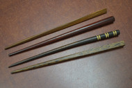 "4 Pcs Carved Wood Hairsticks 7"""