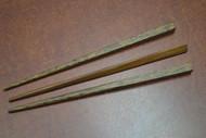 "3 Pcs Carved Brown Wood Hairsticks 7"""
