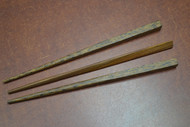 3 Pcs Carved Brown Wood Hairsticks 7""
