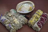 5 Pcs Assort Color Floral Sage Bundle Smudge Incense Kit