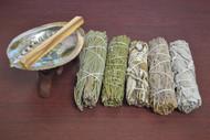 5 Pcs Assort Traditional Sage Bundle Smudge Incense Kit
