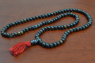 Brown Tibetan Buddhish Buffalo Bone Mala Prayer Beads 8mm