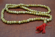 Carved Circle Tibetan Buddhish Buffalo Bone Mala Prayer Beads 8mm