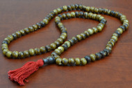 Coffee Brown Tibetan Buddhish Buffalo Bone Mala Prayer Beads 8mm