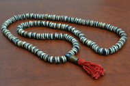 Stripe Tibetan Buddhish Buffalo Bone Mala Prayer Beads 8mm