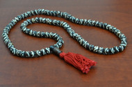 Swril Brown Tibetan Buddhish Buffalo Bone Mala Prayer Beads 8mm
