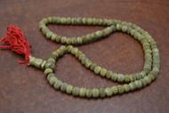 Carved Stripe Brown Tibetan Buddhish Buffalo Bone Mala Prayer Beads 6mm