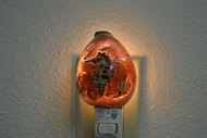 Carved Tiger Seahorse Shell Nightlight