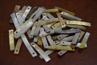 100 Pcs Mother of Pearl Shell Stick Charms