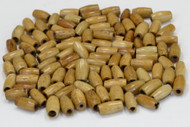 Plain Coffee Brown Buffalo Bone Tube Pipe Beads