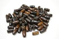 Plain Chocolate Dark Brown Buffalo Bone Tube Pipe Beads