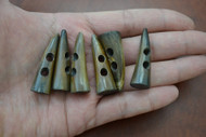 Brown Buffalo Horn Toggle Buttons