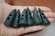 Black Swirl Buffalo Horn Toggle Buttons