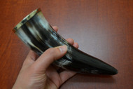 Grayish Buffalo Horn Drinking Cup