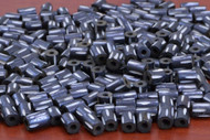 Chocolate Brown Carved Stripe Bone Tube Beads 7mm