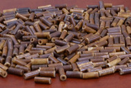 Dark Coffee Brown Cylinder Bone Tube Beads 12mm