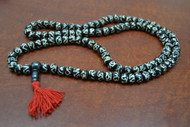 Chocolate Brown Tibetan Buddhish Buffalo Bone Mala Prayer Beads 8mm