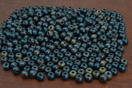 Chocolate Brown Plain Round Bone Beads 6mm