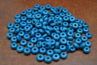 Dyed Dark Blue Plain Round Bone Beads 6mm