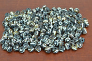 Chocolate Brown Wavy Round Buffalo Bone Beads 8mm
