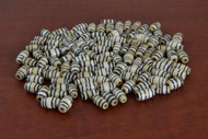 Coffee Brown Mudbone Wavy Bone Tube Beads 12mm