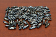 Chocolate Brown Carved Spotted Buffalo Bone Tube Beads 3/4""