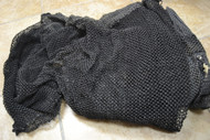 Black Authentic Used Decorative Nautical Fishing Net 24' x 6'