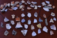 100 Pcs Assorted Mixed Mini Seashell Wire Wrapped Pendants