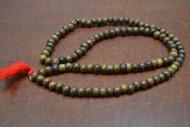Brown Wood Tibetan Buddhish Mala Prayer Beads 10mm