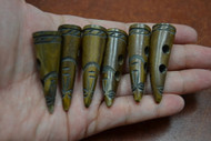 Carved Brown Buffalo Horn Toggle Buttons